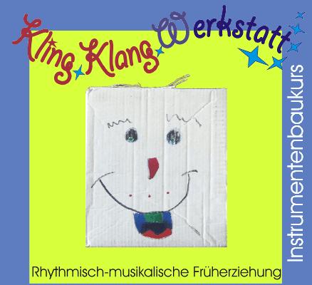 Kling Klang Werkstatt - Rhythmisch-musikalische Früherziehung - Instrumentenbaukurs; Foto einer Kartonrassel